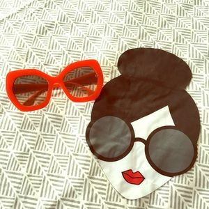 Alice + Olivia Dinah Oversized Sunglasses, Poppy